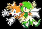 Tails and Cosmo by Sariinijinoka