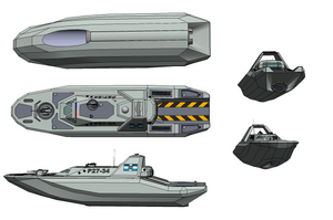 Patrolboat of the Trewhittian Commonwealth / Tech by NikitaTarsov