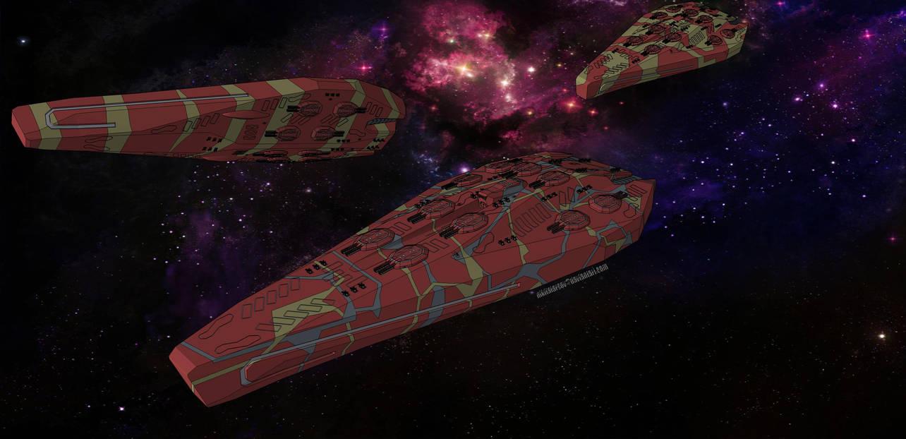 Alon-Konglomerat KimoRire-Klasse Schlachtschiff by NikitaTarsov
