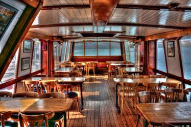 Restaurant boat on the Rance, Bretagne, France. by stormbaldur56