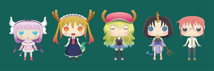 Funko excercise. Dragon Maid concept by DaveSong