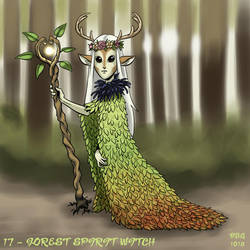 31 Witches - 17 - Forest Spirit Witch by BahalaNa