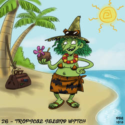 31 Witches - 26 - Tropical Island Witch by BahalaNa