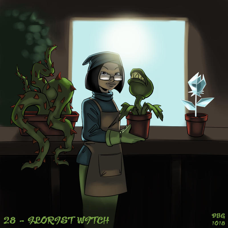 31 Witches - 28 - Florist Witch by BahalaNa