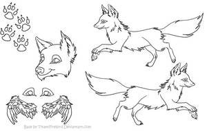 Wolf or Fox Reference Sheet by TikamiHasMoved