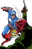 Cap vs the Red Skull by SimonFraser