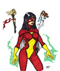 Avengers Angels by CrimsonArtz