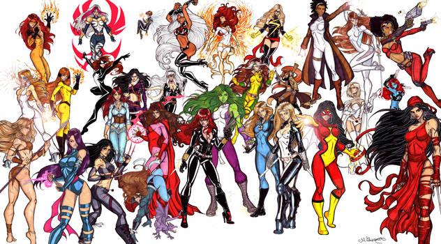 Ultimate Marvel Divas by CrimsonArtz