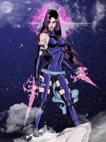 Psylocke's revised X-Force uniform by CrimsonArtz