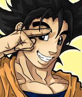 100 Theme 1 : Goku by Kinky-Typo