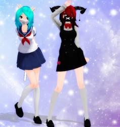 MMD Persona Models by RasberryParfait