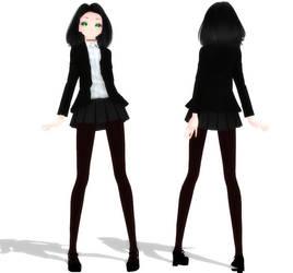 Lydia Nemesis MMD OC Model by RasberryParfait