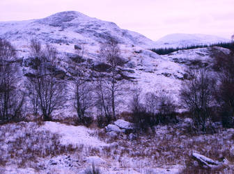 Hills with snow by Mookeynuts