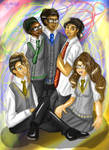 The Squad At Hogwarts by Lollypop081MLE