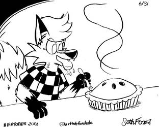 Inktober '18: Drooling Fox (06/31) by Daily-Needs