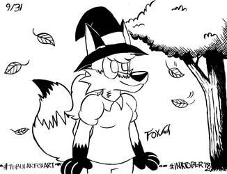 Inktober '18: Halloween Vixen (09/31) by Daily-Needs