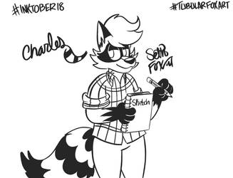 Inktober '18 : Charles Raccoon (15/31) by Daily-Needs