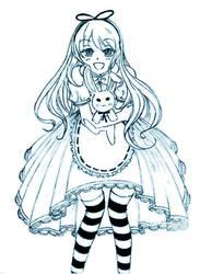 Alice and White Rabbit Plushie by YukiChanMadness