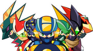 MegaMan.EXE Forms by MidniteW