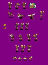 Glide.EXE battle sprite by MidniteW