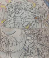 Pokemon Cybeast Solgaleo and Tournament Blue Moon by MidniteW