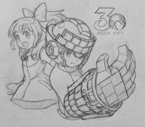 Mega Man 30th by MidniteW
