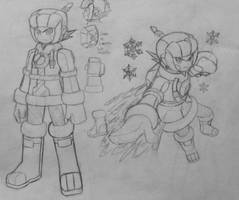 Mega Man Ice Soul concept by MidniteW