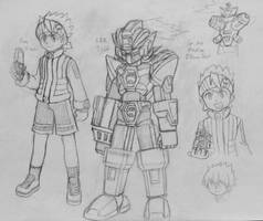 LBX Style Lan and MegaMan.EXE by MidniteW