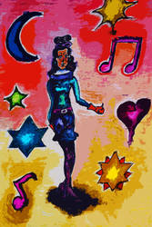 Inktober: OC dancer by divinerogue1991