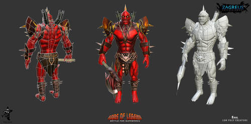 Baal-character-low-poly Ze by zagreusent