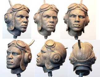 tuskegee Airman head by MarkNewman