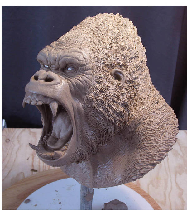 Kong Bust by MarkNewman