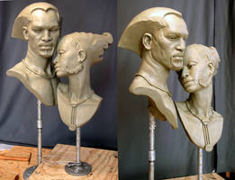 Male and Female bust's by MarkNewman