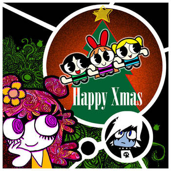Happy Xmas AmiYumi PPG by Sukapon-ta