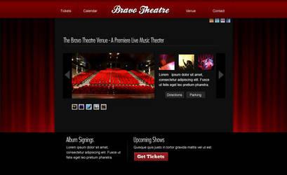 Bravo Theatre Web Design by montia