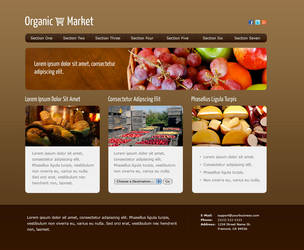 Organic Market Web Design by montia