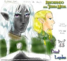 Legolas ar Drizzt by Ollinatl