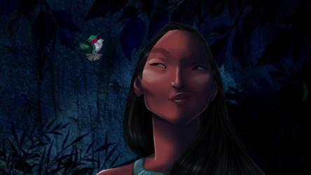 Disney Screencap re-shade - Pocahontas by Ollinatl