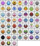 Unbreedable Pokemon Eggs by malice936