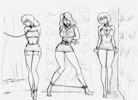 Some Pencil Girls by Lunargue