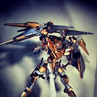 Gundam Kitbash Rytsar - Range Combat Mode by s00nk1a