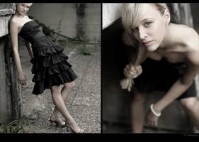 - her blackest dress - by SaschaHuettenhain