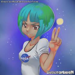 Fanart Earth-chan by Bruce-Artbook