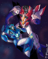 Stardrive and Starscream by TheButterfly