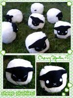 Sheep Plushies by CherryAbuku