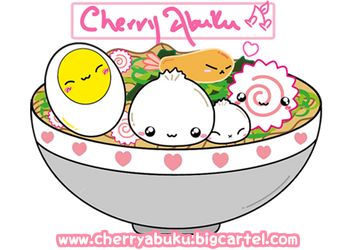 Cherry Abuku Ramen Bowl by CherryAbuku