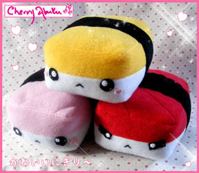 Nigiri plushies by CherryAbuku