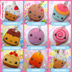 Sweet Dessert Necklaces by CherryAbuku