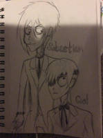 Sebastian and Ciel in Tim Burton's Style by doctorwhooves253