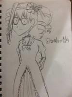 Elizabeth Midford in Tim Burton's style by doctorwhooves253